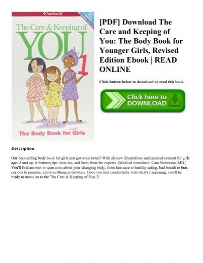 PDF Download The Care And Keeping Of You Body Book For Younger Girls Revised Edition Ebook READ ONLINE
