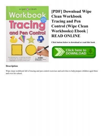 PDF Download Wipe Clean Workbook Tracing And Pen Control Workbooks Ebook READ ONLINE