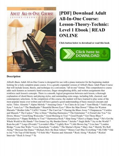 Pdf download adult all in one course lesson theory technic level 1 pdf download adult all in one course lesson theory technic level 1 ebook read online fandeluxe Image collections