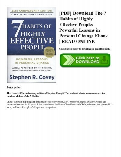 Pdf download the 7 habits of highly effective people powerful pdf download the 7 habits of highly effective people powerful lessons in personal change ebook read online fandeluxe Image collections