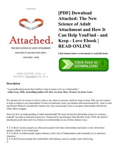 Pdf download attached the new science of adult attachment and how pdf download attached the new science of adult attachment and how it can help youfind and keep love ebook read online fandeluxe Image collections