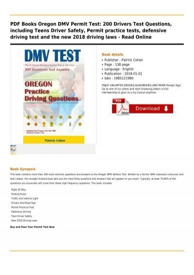 dmv drivers permit test oregon