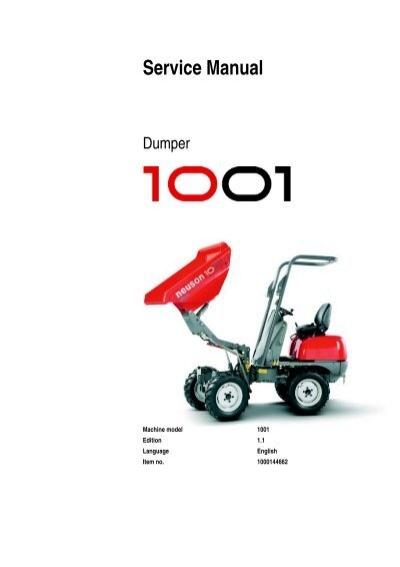 service manual wacker neuson rh yumpu com neuson 1001 dumper manual neuson 1001 dumper manual