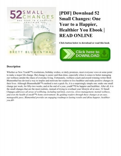 Pdf download 52 small changes one year to a happier healthier you pdf download 52 small changes one year to a happier healthier you ebook read online fandeluxe Image collections