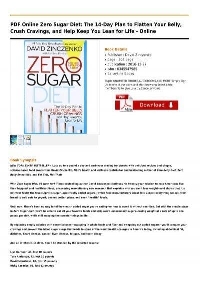 zero sugar diet david zinczenko