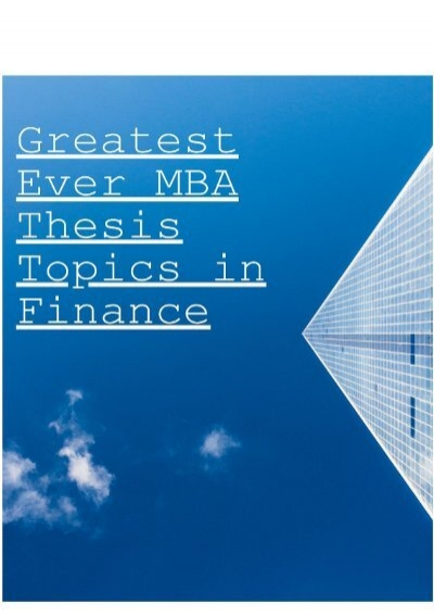 Dissertation statistical services for mba financial