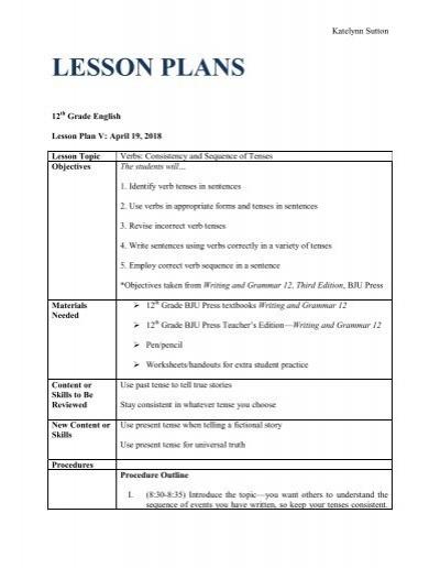 English Lesson Plans For Teachers Pdf