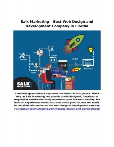 Salk Marketing Best Web Design And Development Company In Florida