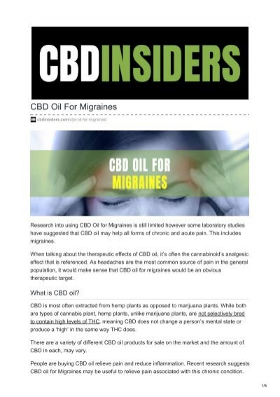 5 Best CBD Oil for Migraines [2020 ...webehigh.com