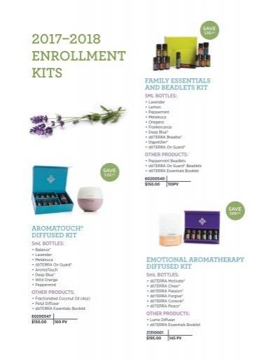 doterra 2017 enrollment kits pdf