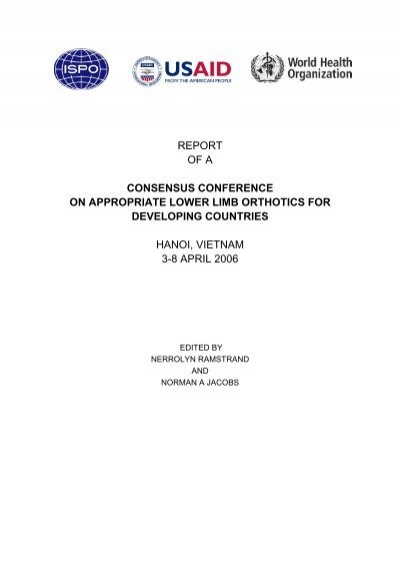report of a consensus conference on appropriate lower limb ...