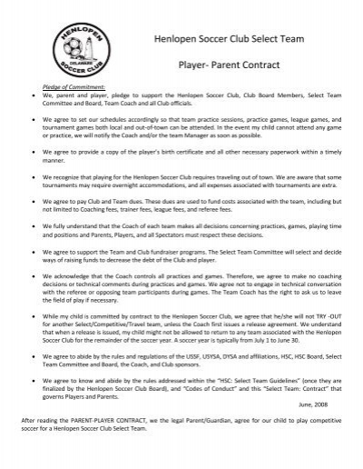 club contract template