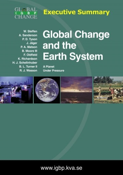Paleoclimate, Global Change and the Future (Global Change - The IGBP Series)