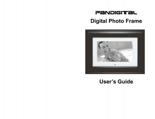 Digital Photo Frame User\'s Guide - Pandigital