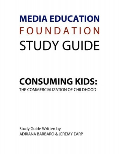 consuming kids media education foundation rh yumpu com Examples Study Guide Study Guide Format