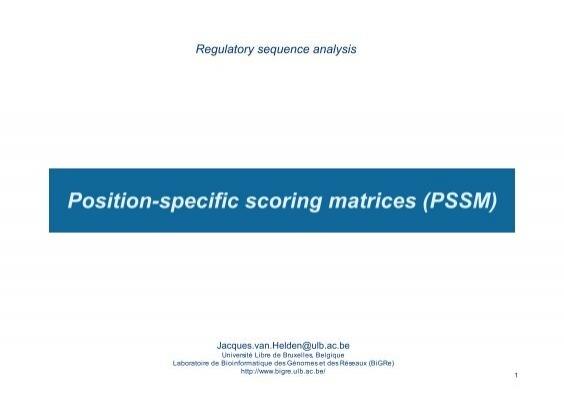 Guidelines Scoring Matrices