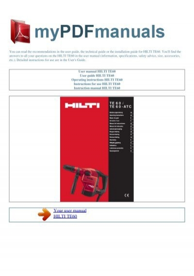 hilti te 905 service manual manuals library for free rh 4free articles com hilti te 905 service manual Hilti TE 905 Location Brushes