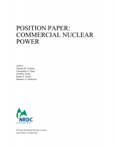nuclear power paper