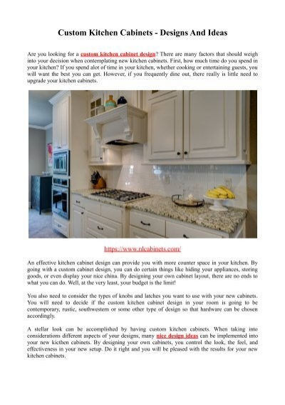 Custom Kitchen Cabinets Designs And Ideas, Cabinets By Design