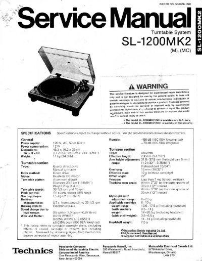 technics sl 1200 mk2 service manual rh yumpu com technics sl-1200mk2 owners manual pdf technics sl 1200 mk2 owners manual