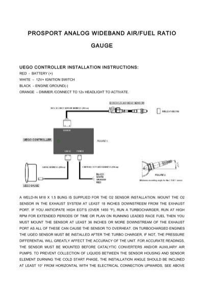 premium series wideband gauge kit prosport gauges rh yumpu com Light Switch Wiring Diagram Basic Electrical Schematic Diagrams
