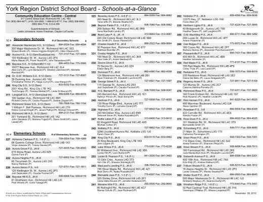 York Region School Board: York