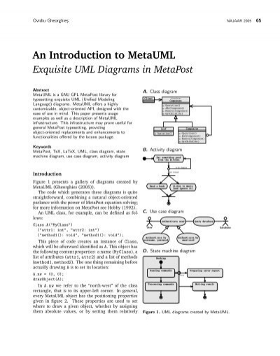 An introduction to metauml exquisite uml diagrams in metapost ccuart Choice Image