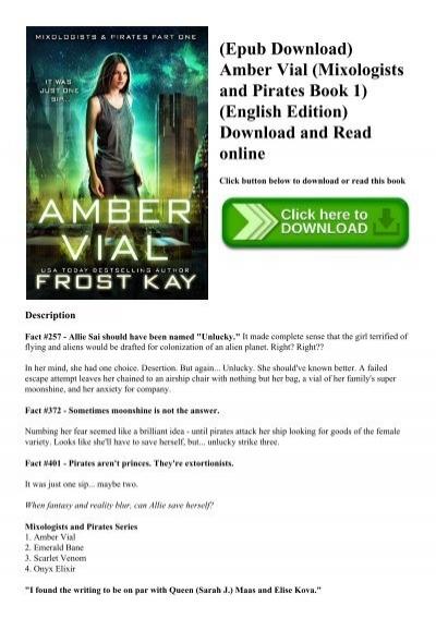 Epub Download Amber Vial Mixologists And Pirates Book 1 English