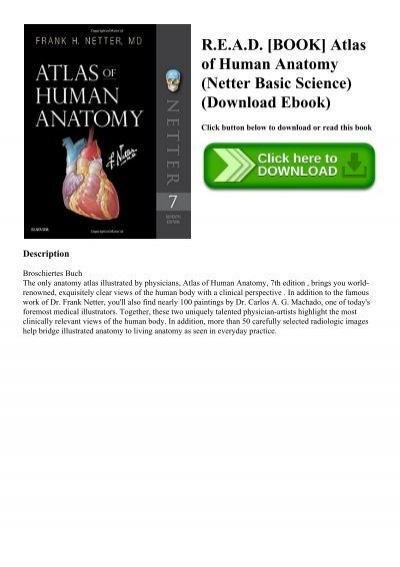 Read Book Atlas Of Human Anatomy Netter Basic Science