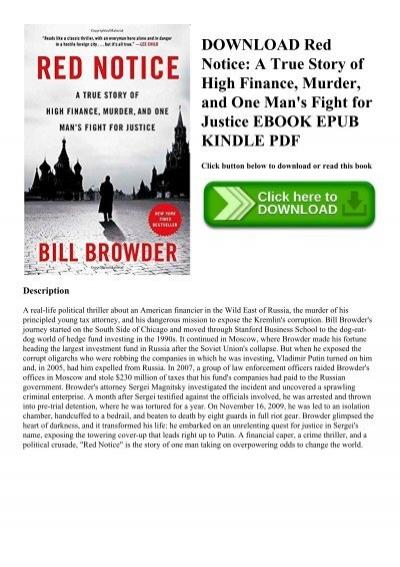 Red notice pdf free. download full