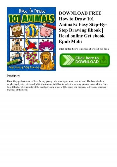 Download Free How To Draw 101 Animals Easy Step By Step