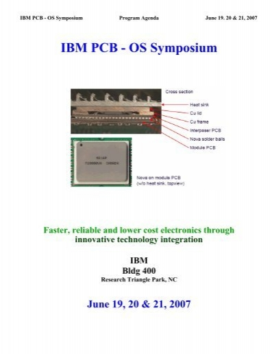 PCB-OS Symposium proceedings - IBM