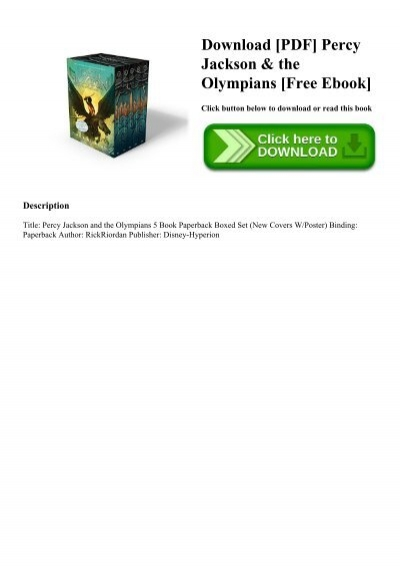 Download Pdf Percy Jackson The Olympians Free Ebook