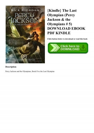Kindle The Last Olympian Percy Jackson The Olympians 5