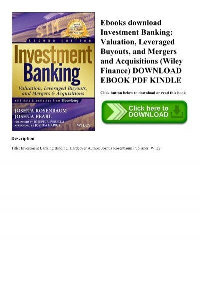 wiley finance investment banking pdf to jpg