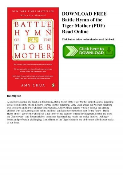 Battle Hymn Of The Tiger Mother PDF Free Download