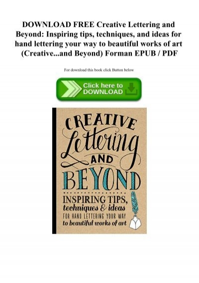 creative lettering and beyond pdf free