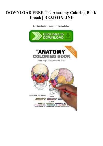 DOWNLOAD FREE The Anatomy Coloring Book Ebook READ ONLINE