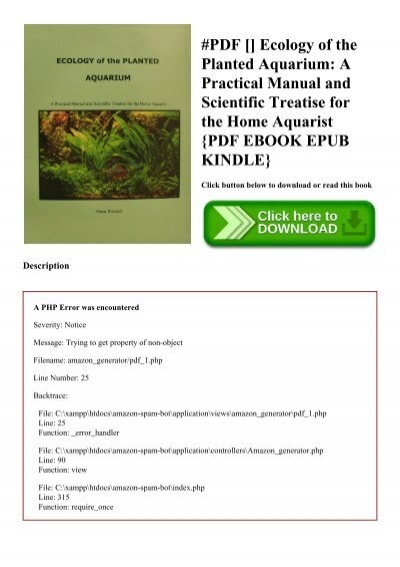 ecology of the planted aquarium free download
