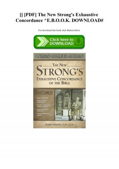 strongs exhaustive concordance free pdf download