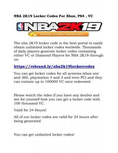 NBA 2K19 Locker Codes For Xbox-converted