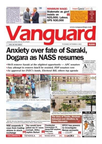 09102018 - Anxiety over fate of Saraki, Dogara as NASS resumes