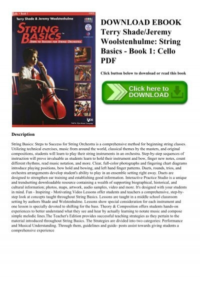 STRING BASICS CELLO BOOK 1 SECOND EDITION ** BRAND NEW**