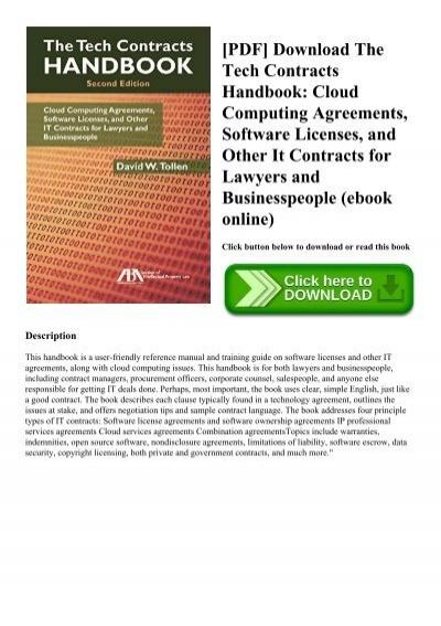 Software Licensing Handbook Second Edition