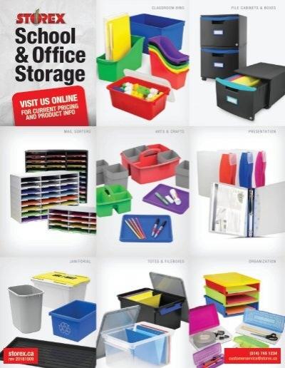 Case of 3 Storex Premium File Crate with Handles 17.25 x 14.25 x 10.5 61455U03C Classroom Blue