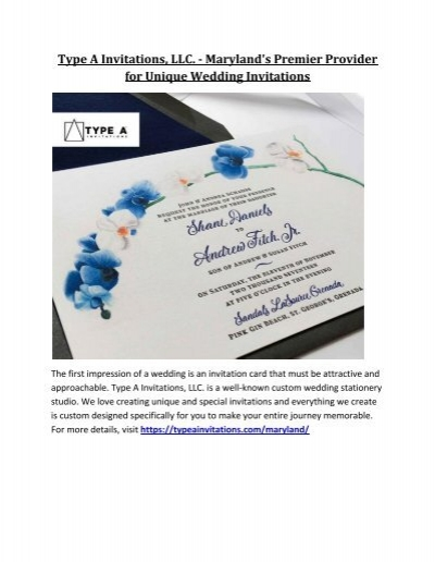 type a invitations llc marylands premier provider for unique