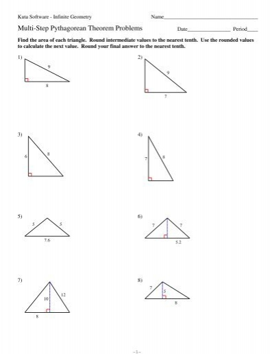 8-multi-step Pythagorean Theorem Problems Pdf