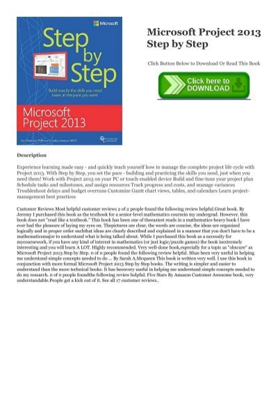 Epub Microsoft Project 2013 Step By Step P D F Free Download