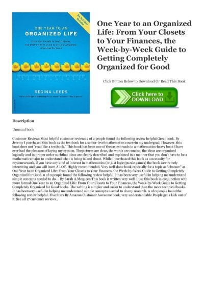 One Year To An Organized Financial Life PDF Free Download