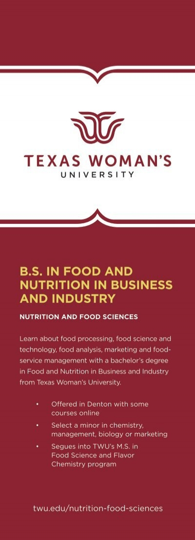 TWU Nutrition in Business and Industry
